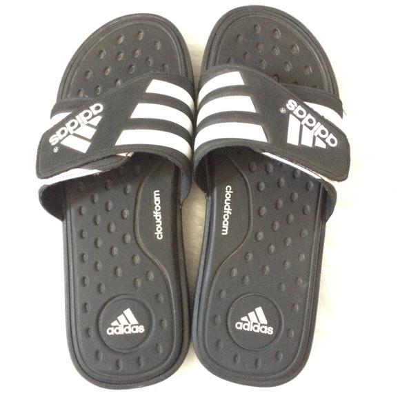 adidas Shoes - adidas | Sandal Flats Slides Cloud foam sz 9